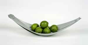 Aluminum Fruit Skiff: Marc Maiorana: Metal Bowl - The Artful Home :  boat kitchenware home deco metal