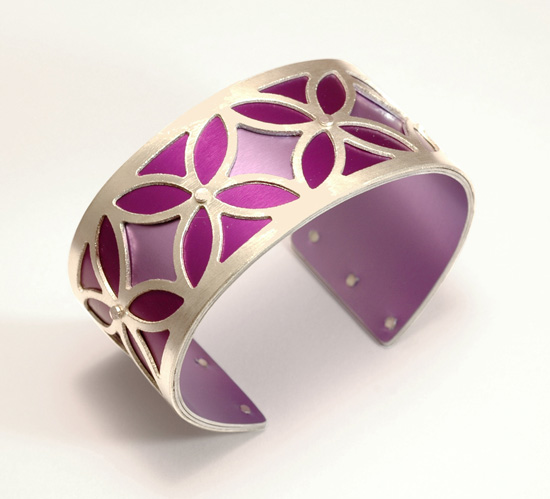 Small Two-Tone Bingo Cuff - Magenta & Pink
