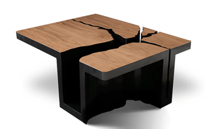 Stink Tree: Coffee Table :  link studios cutout negative space extruded