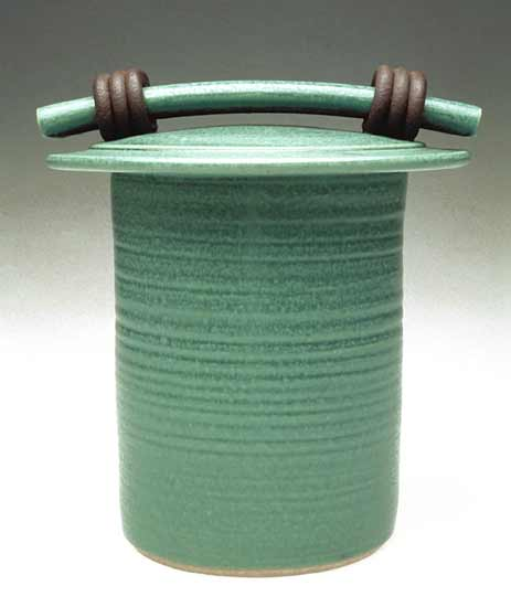 Green Storage Jar