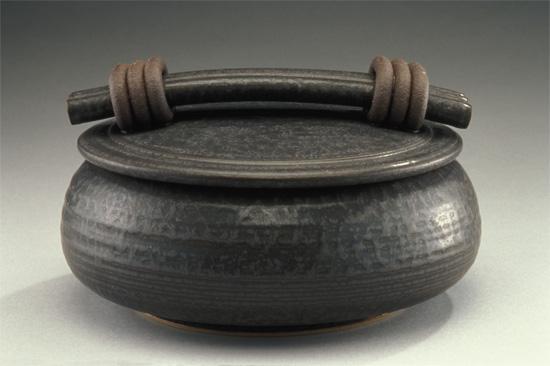 Black Casserole By Jan Schachter Ceramic Casserole
