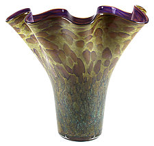 Scalloped Vase by Thomas Kelly (Art Glass Vase)