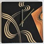 Kyoto Square Wall Clock by Ingela Noren and Daniel  Grant (Wood Clock)