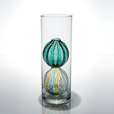 Bead Bud Vase - Single Globe by Tracy Glover (Art Glass Vase)