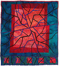 Geoforms: Fractures #7 by Michele Hardy (Fiber Wall Hanging)