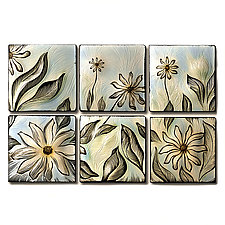 Susan's Meadow by Natalie Blake (Ceramic Wall Sculpture)