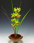 Ikebana Bowl (Transparent Ruby) by Danielle Blade and Stephen Gartner (Art Glass Vase)
