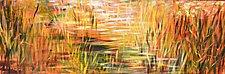 Salt Marsh Sunset II by Stephen Yates (Acrylic Painting)
