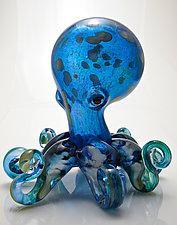 Octopus by Michael Richardson, Justin Tarducci, and Tim Underwood (Art Glass Sculpture)