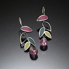 Falling Leaves by Susan Kinzig (Silver Earrings)