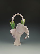 Pink Elephant Teapot by Nancy Y. Adams (Ceramic Teapot)