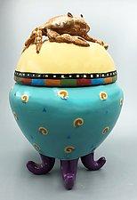 Crab Sentinel Jar by Lisa Scroggins (Ceramic Jar)