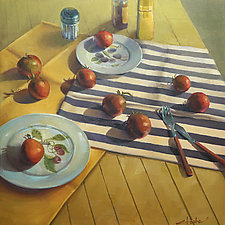 Summer Tomatoes by Cathy Locke (Oil Painting)