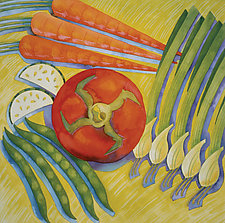 Tomato Five by Cathy Locke (Watercolor Painting)