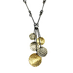 Hammered Disk Necklace by Lisa Crowder (Gold & Silver Necklace)