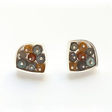 Jeweled Cluster Post Earrings by Ashka Dymel (Jewelry Earrings)