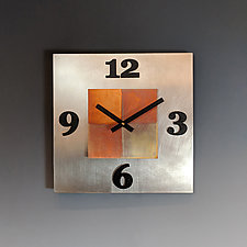 Kitchen Steel by Leonie  Lacouette (Metal Clock)