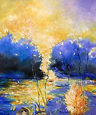 Sunburst by Judy Hawkins (Oil Painting)