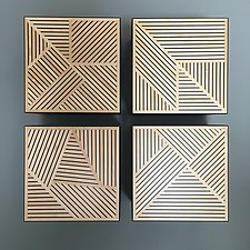 Crosshatch Wall Cabinet by Kevin Irvin (Wood Cabinet)