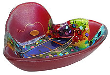 Crazy Heart Bowl by Karen Ehart (Art Glass Bowl)