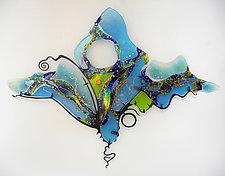 Wings by Karen Ehart (Art Glass Wall Sculpture)