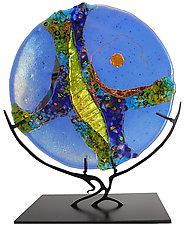 Opal Moon by Karen Ehart (Art Glass Sculpture)