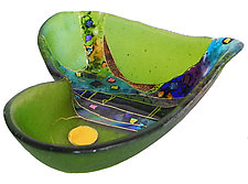 Crazy Heart Bowl by Karen Ehart (Art Glass Bowl)