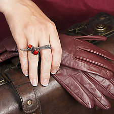 Cubeberry Ring by Aleksandra Vali (Silver & Stone Ring)