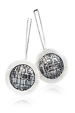 Mod Weave Earrings by Linda Bernasconi (Silver Earrings)