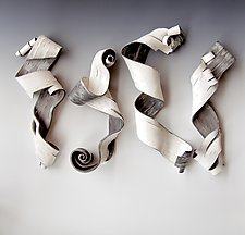 Lyricism Quartet Two by Lenore Lampi (Ceramic Wall Sculpture)