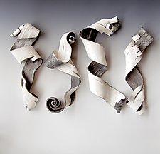 Lyricism Quartet II by Lenore Lampi (Ceramic Wall Sculpture)