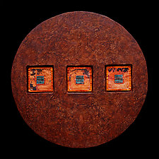 Jewels From Within 18 Circle with No Sticks by Kara Young (Mixed-Media Wall Hanging)