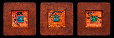 Jewel From Within Petite Squares by Kara Young (Mixed-Media Wall Sculpture)