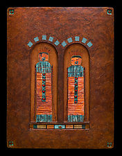 Offerings: Guardian Spirit Protectors  M / Copper by Kara Young (Mixed-Media Wall Hanging)