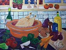 Dinner by Elisa Root (Oil Painting)