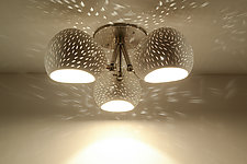 ClayLight Clover by Sharan Elran, Yael Erel, and Avner Ben Natan (Ceramic Ceiling Light)