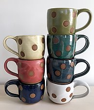 Dot Mug by Louise Bilodeau (Ceramic Mug)