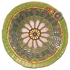 Garden Party Large Bowl by Laurie Pollpeter Eskenazi (Ceramic Bowl)