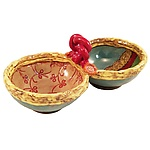 Annabelle's Double Server by Laurie Pollpeter Eskenazi (Ceramic Bowls)