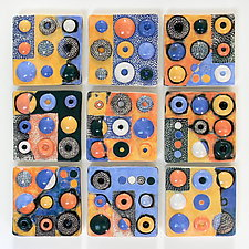 Tomorrow Sun by Regina Farrell (Ceramic Wall Sculpture)