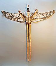 Anthropocene Angel by Elizabeth Frank (Wood Wall Sculpture)