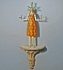 Thorn Woman by Elizabeth Frank (Wood Wall Sculpture)