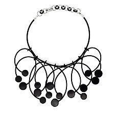 Deco Dot Necklace by Kathleen Nowak Tucci (Rubber Necklace)