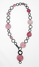 Pink Power Necklace II by Kathleen Nowak Tucci (Polymer & Rubber Necklace)