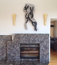 Naked Man, Back by Paul Arsenault (Metal Wall Sculpture)