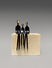Family of Three by Yenny Cocq (Bronze Sculpture)