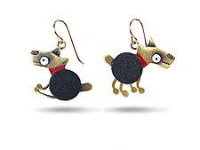 Spot Earrings by Lisa and Scott  Cylinder (Metal Earrings)