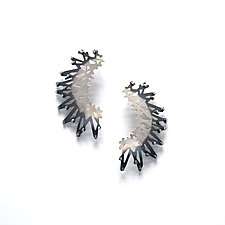 Large Stick and Stone Ombre Earrings by Joanna Nealey (Silver Earrings)