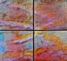 Rain Quartet by Cynthia Miller (Art Glass Wall Sculpture)