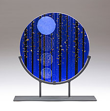 Full Moon Hike I by Denise Bohart Brown (Art Glass Sculpture)